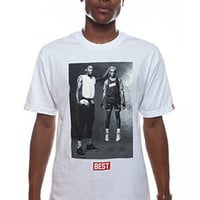BREEZY EXCURSION ONLINE SHOP/STORE/SPENDING CENTER — Earth & Mars White Tee