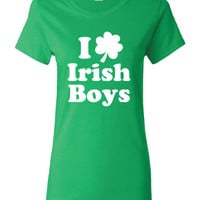 I Heart Love Irish Boys pub crawl bar scotland saint st Patrick's Paddy's ireland scottish T-Shirt Tee Shirt Mens Ladies mad labs ML-296