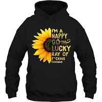 I'm happy go lucky ray of sunshine sunflower Women's hoodie