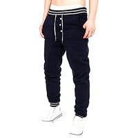 Men's Pants Jogger Dance Sportwear Loose Pants Harem Pants Slacks Trousers Elastic Waist Long Sweatpants With Pockets