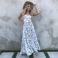Countryside Embroider Eyelet Maxi Dress