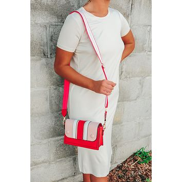 Ready In Red Purse: Red/Multi