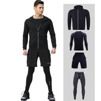 GYM Tights Sports Men's Compression Sportswear Out Fits Training Clothes Suits Workout Jogging Sports Clothing Tracksuit Dry Fit