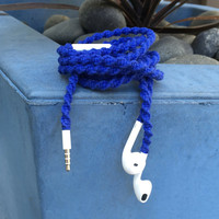 Deep Sea MyBudsBuzz Wrapped Headphones Tangle Free Earbuds Your Choice of Headphones