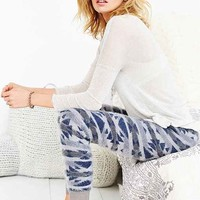 Out From Under Eyelash Intarsia Jogger Pant - Blue Multi