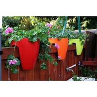 Greenbo GPC02-R Railing Planter, Red