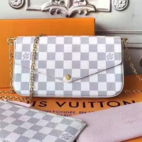 LV women's chain bag shoulder bag three-piece