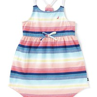 Nautica Little Girls 2T-6X Sleeveless Multi-Stripe Dress | Dillards