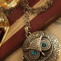 Corazon Owl Locket Necklace - 98654456-4