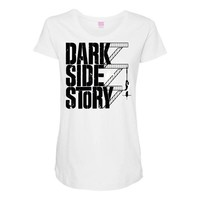 dark side story Maternity Scoop Neck T-shirt