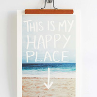 Leah Flores This Is My Happy Place Print - Urban Outfitters