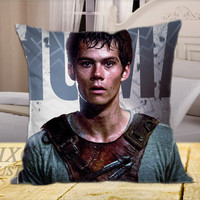 Dylan Obrien The mazerunner on Square Pillow Cover