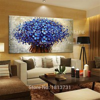 Canvas Painting Hand Painted Palette Knife 3D Flower,Wall Pictures for living room home decor ,cuadros decorations for Christmas