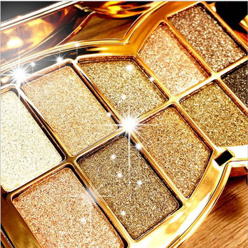 10 Color Makeup Diamond Bright Palette Eye Shadow = 1946641028