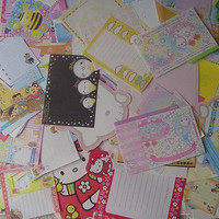 Sanrio Q-lia Kamio Crux STATIONERY Memo lot large sheets only