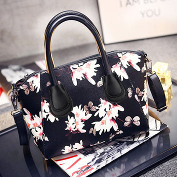 Floral Printing Bag Women Handbags PU Leather Messenger Bags Women Handbag Tote Bags Female Crossbody Bag Satchel Bolsa Feminina SN9