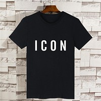 Funny Icon Print Hip Hop T shirt