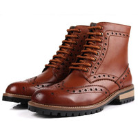 New 2014 men's boots, men's genuine leather boots, dress boots.Yellow, brown, black. Free shipping + gift
