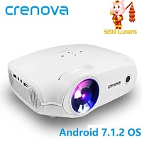 CRENOVA Newest LED Projector For Full HD 4K*2K Video Projector Android 7.1.2 OS Home Cinema
