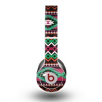 The Vector Green & Pink Aztec Pattern Skin for the Beats by Dre Original Solo-Solo HD Headphones