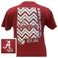 Sale Alabama Crimson Tide Chevron State Bright T Shirt