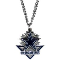 Dallas Cowboys Chain Necklace & Pewter Pendant:Amazon:Sports & Outdoors