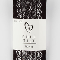 Full Tilt Scallop Open Lace Womens Tights Black One Size For Women 26736710001