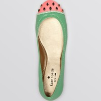 kate spade new york Cap Toe Ballet Flats - Watermelon