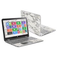 """Skin Decal Wrap for HP Envy x360 15.6"""" (2014) cover sticker skins White Marble"""