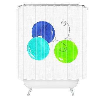 Laura Trevey JOY in Blue Green Shower Curtain