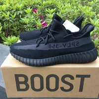 ADIDAS YEEZY BOOST 350 V2 KANYE WEST OREO GRAY-WARRIOR RUNNING SHOES FOR WOMEN & MEN SIZE 36-46