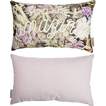 You Are Amazing Remember That Throw Pillow in Succulent Print