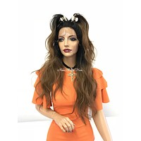 Ombre' loose wave lace front wig MULTI PART - Bentley 318 9*