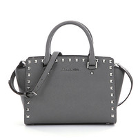 MICHAEL Michael Kors Selma Studded Medium Convertible Satchel | Dillards