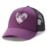 Life Is Good Mesh ''Life Is Good'' Women's Palm Trees Baseball Hat, Size: One Size (Purple)