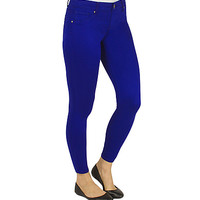 Girls Blue Silk Jegging