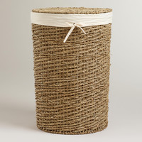 Trista Seagrass Round Hamper - World Market