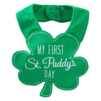 """Carter's® """"My First St. Paddy's Day"""" Bib in Green"""