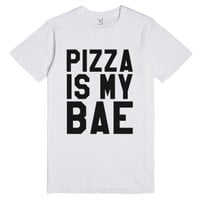 Pizza Is My Bae T-shirt (ide180445)-Unisex White T-Shirt