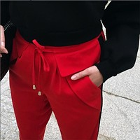 Winter Women's Fashion Hot Sale Stylish Casual Cropped Pants [11828930383]
