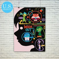 Inside Out Disney Pixar Poster Print Wall Decor Canvas Print - piegabags.com