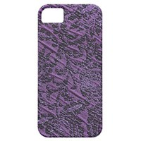Purple Sparkle Fabric Damask Swirl Cover iPhone 5 Case from Zazzle.com