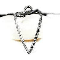 Personalized Sterling Arrowhead Chain Necklace.