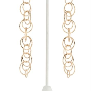 Long Hanging Earring with Multiple Circles