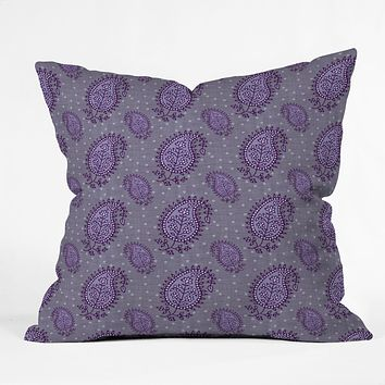 Caroline Okun Shanti Blooms Throw Pillow