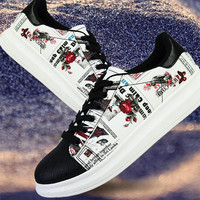 New Men's Sneakers Skate Shoes Casual Shoes Fashion Breathable Shell Head Leather Stitching Student All-match Low PU Wear-resist Red White