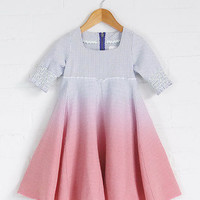 Looe - Girls Dip Dyed Godet Dress | flukekids.co.uk
