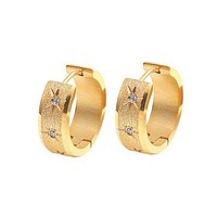 18K Gold Plated Wide Hoop Earrings