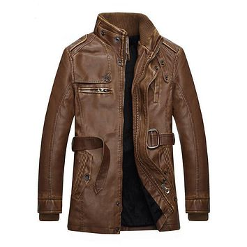 New Mens Genuine Lambskin Leather Slim Fit Biker Motorcycle Jacket for Men P061