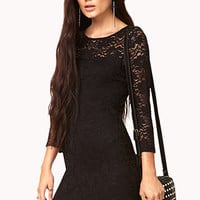 Floral Lace Bodycon Dress